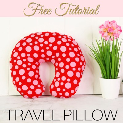 DIY Travel Pillow {Neck Pillow} – Free Pattern