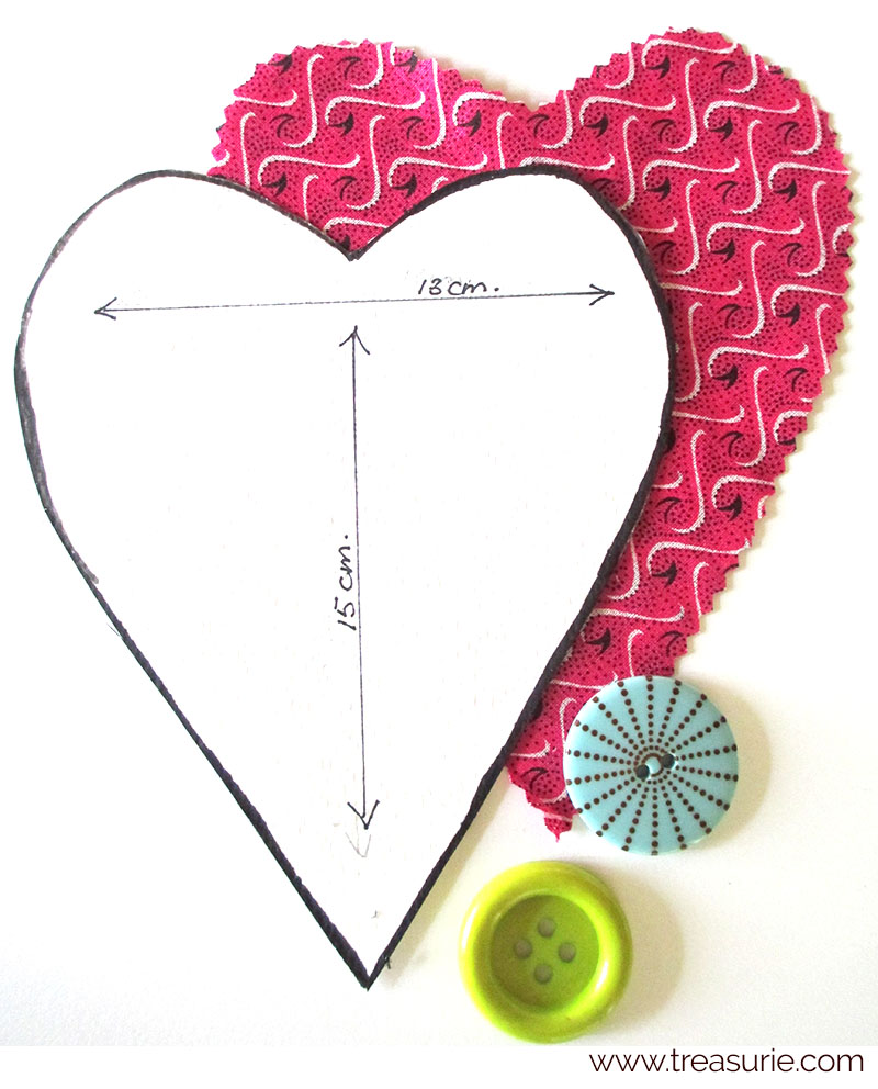 scented heart pattern