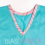 How to Sew a V Neck with Bias Tape: SIMPLE