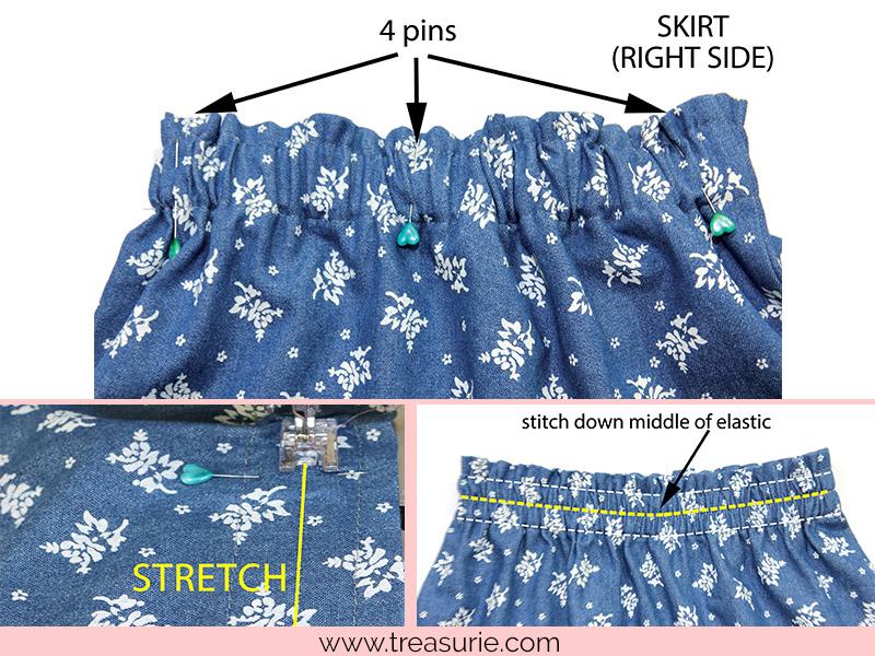 sewing elastic waistband twisting