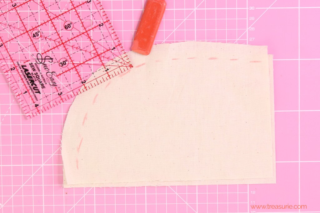 how to sew curves marking