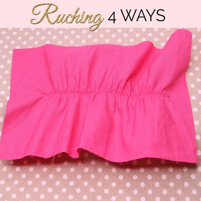 How to Sew Ruching the Easiest Way (Sewing Ruching)