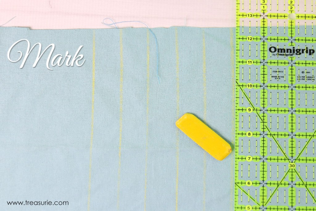 how to sew pintucks step 1