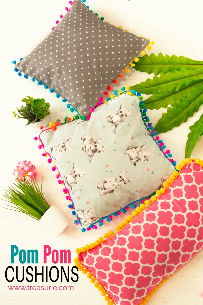 pom pom pillows