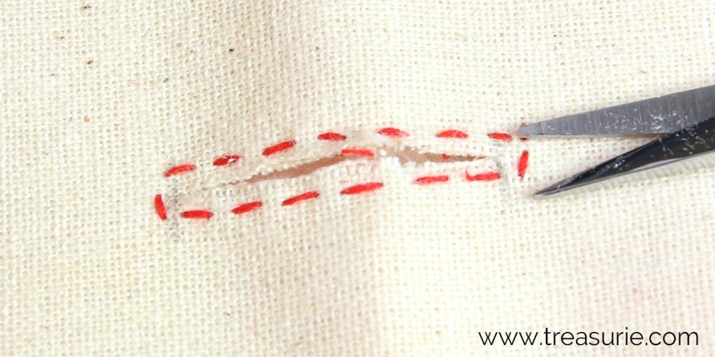 cut buttonhole