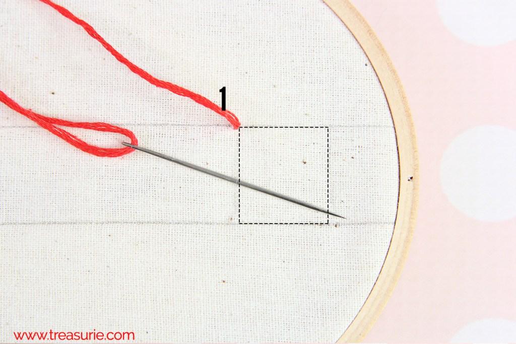 cross stitch step 1