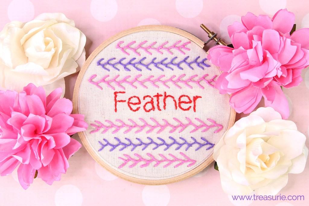 feather stitch embroidery, featherstitch