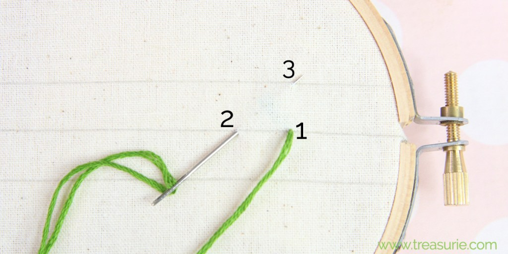 fern stitch step 1