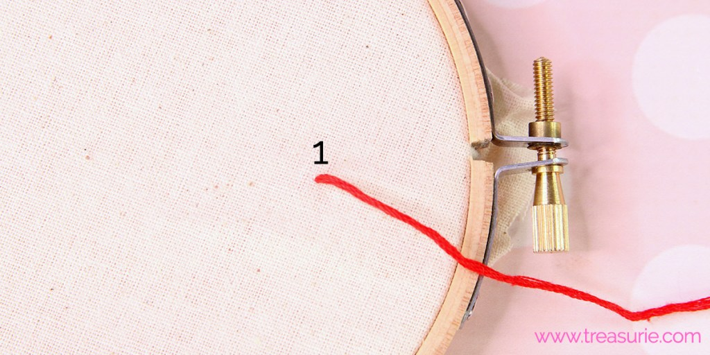 french knots step 1