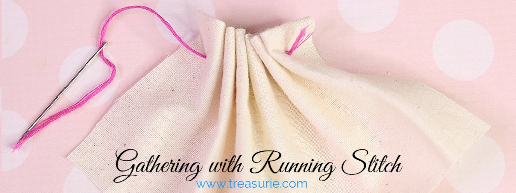 gathering with running stitch