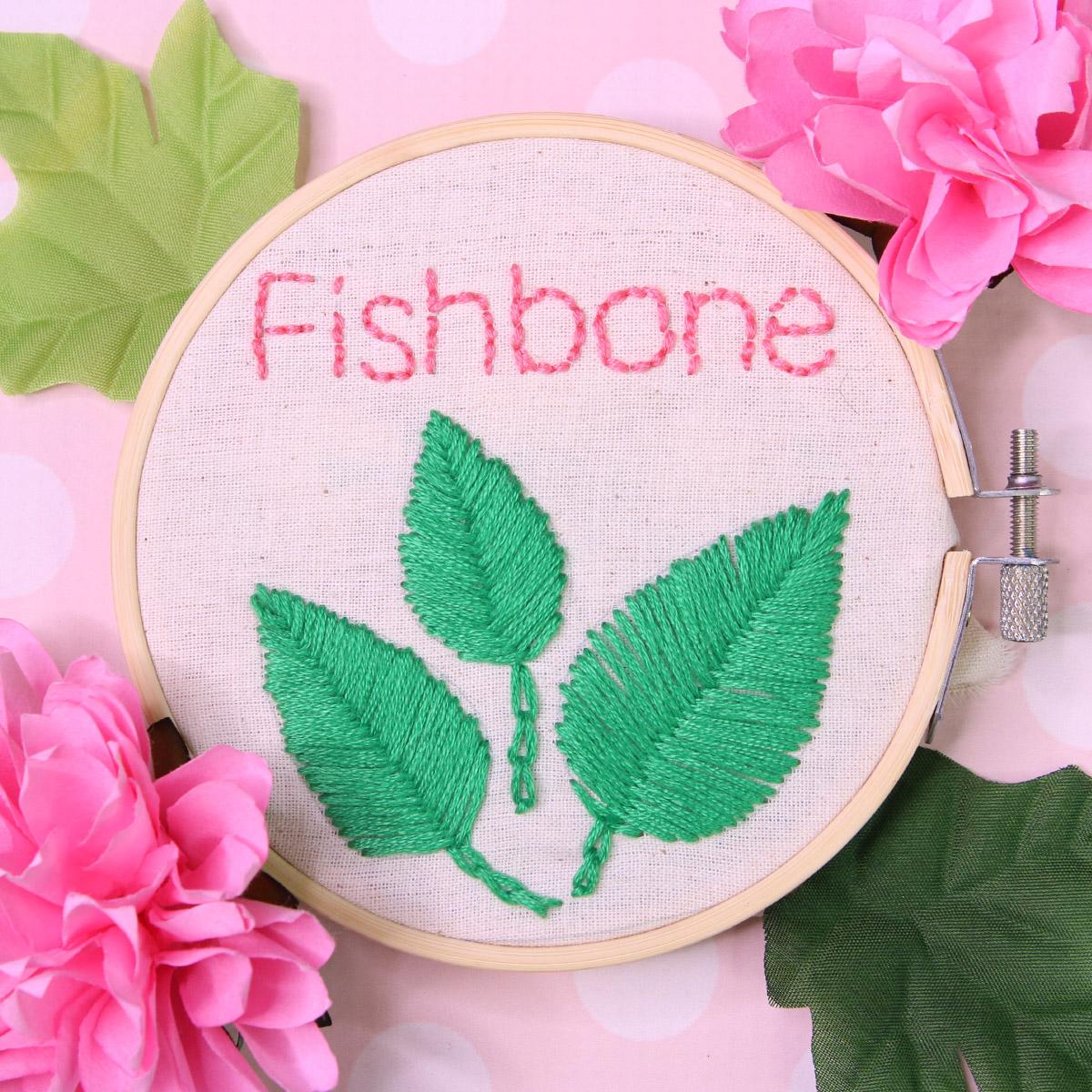 Fishbone Stitch | Embroidery Tutorial |TREASURIE