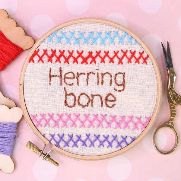 Herringbone Stitch | Embroidery Tutorial