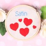 satin stitch embroidery