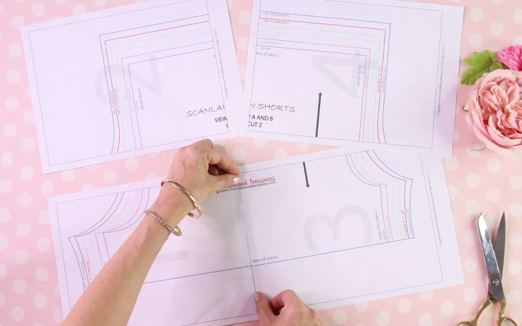 how to sticky tape a pdf pattern