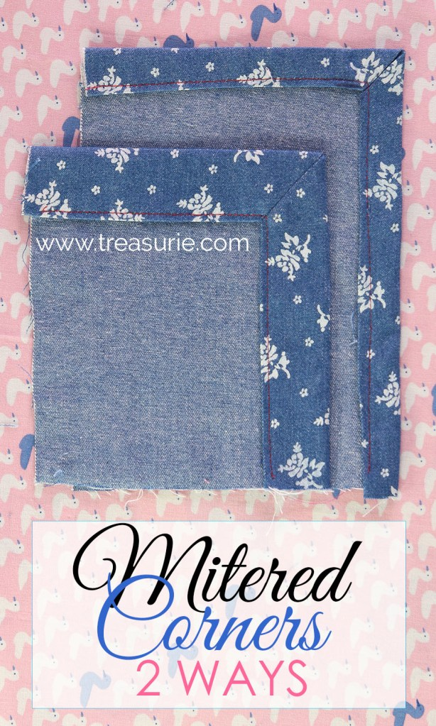 how to sew mitered corners. how to sew a mitered corner