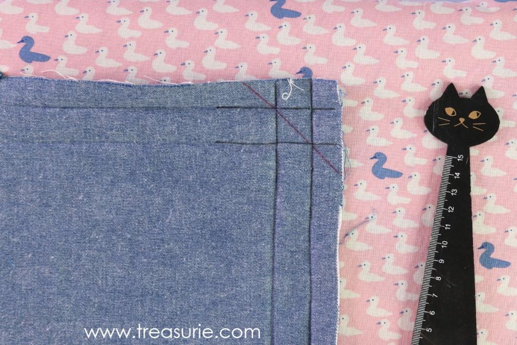 How to Sew Mitered Corners - Press