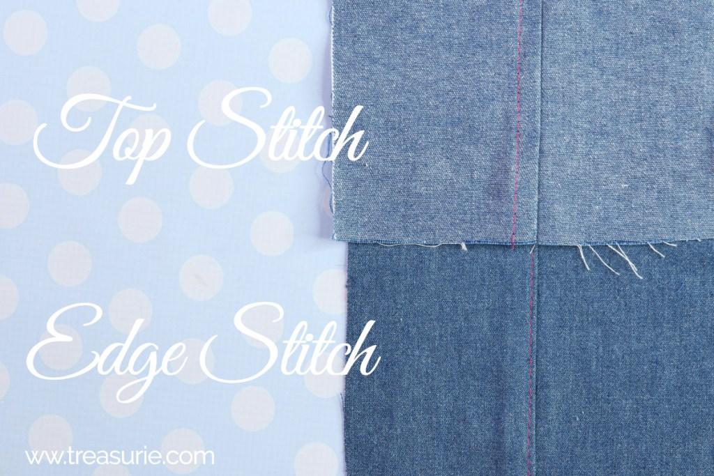 edge stitch vs top stitch