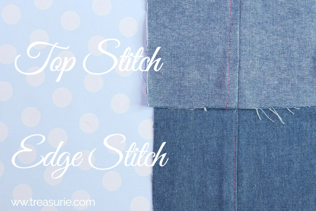 edge stitch vs top stitch