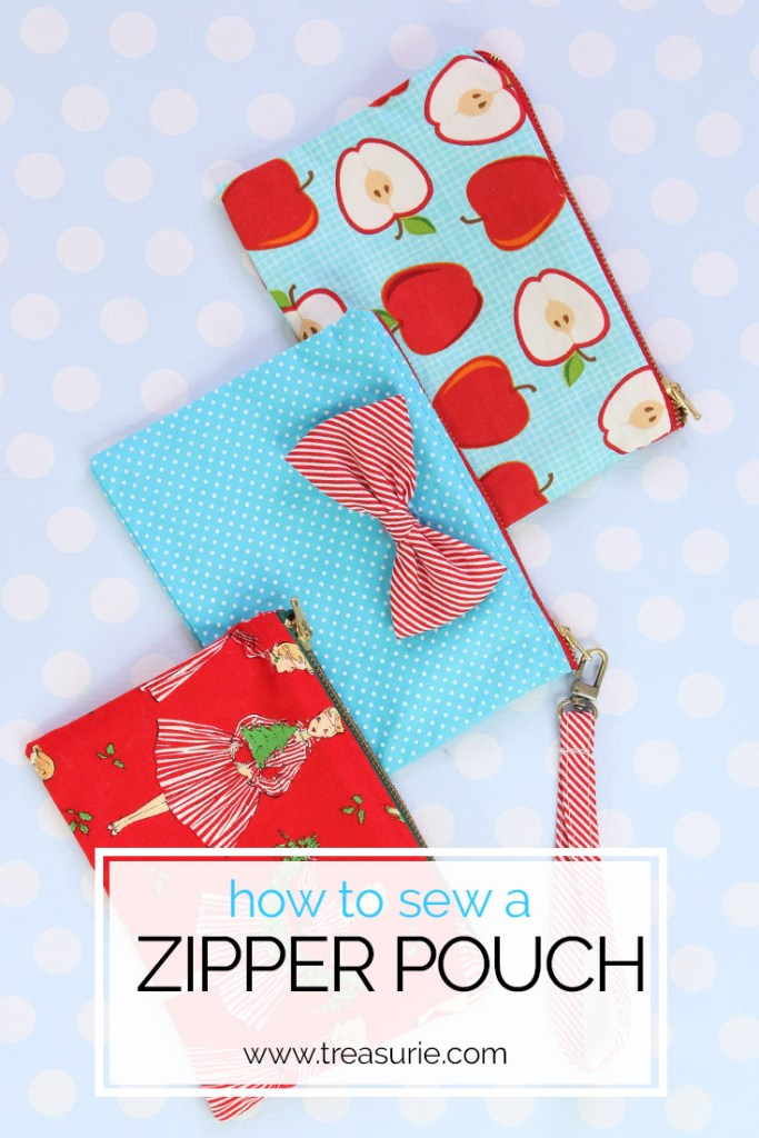 zipper pouch tutorial, how to sew  a zipper pouch