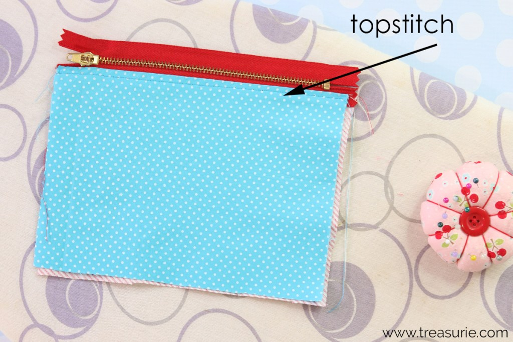 step 2: how to sew a zipper pouch