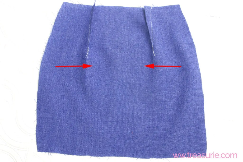pressing darts in a skirt