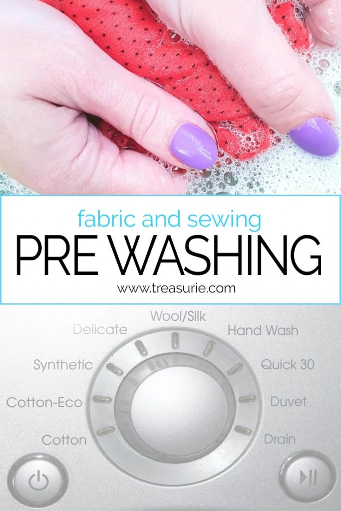 pre washing, how to pre wash fabric