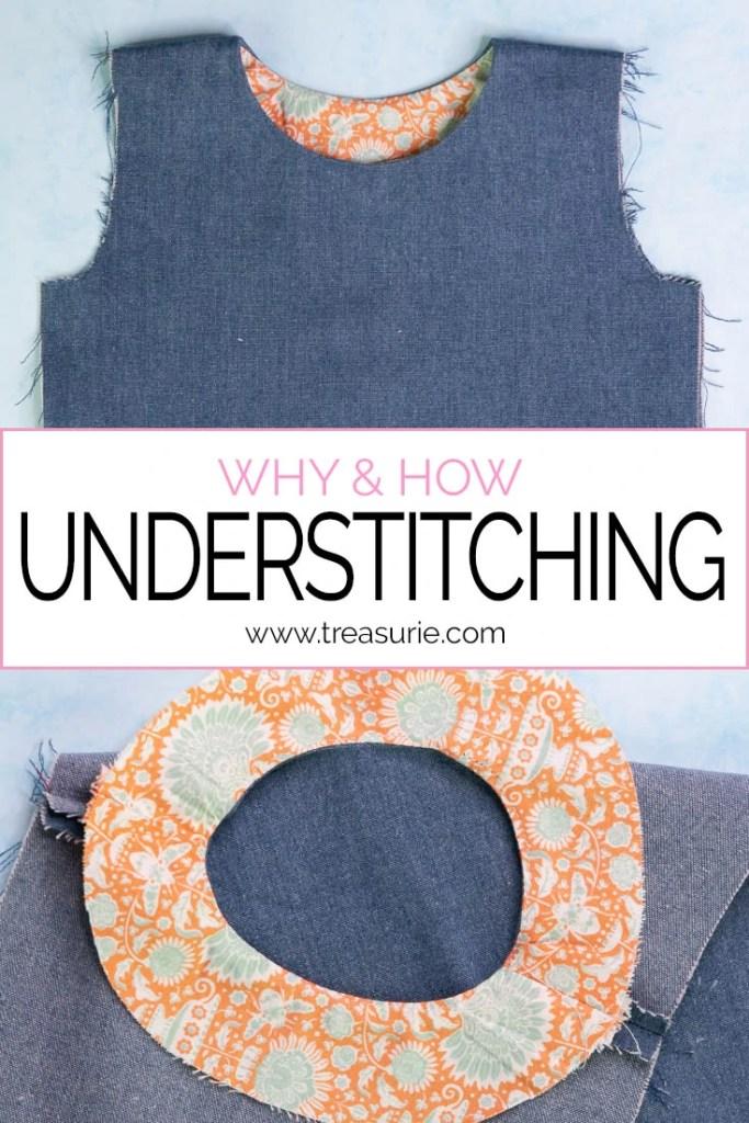 understitching, how to understitch