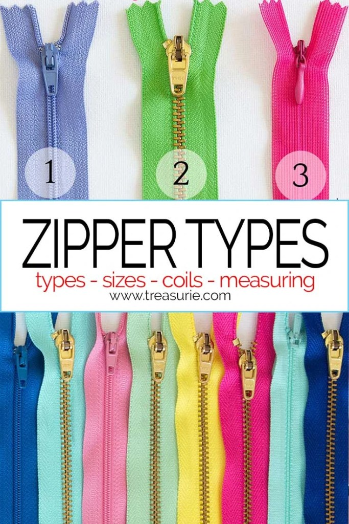 Types of zipper