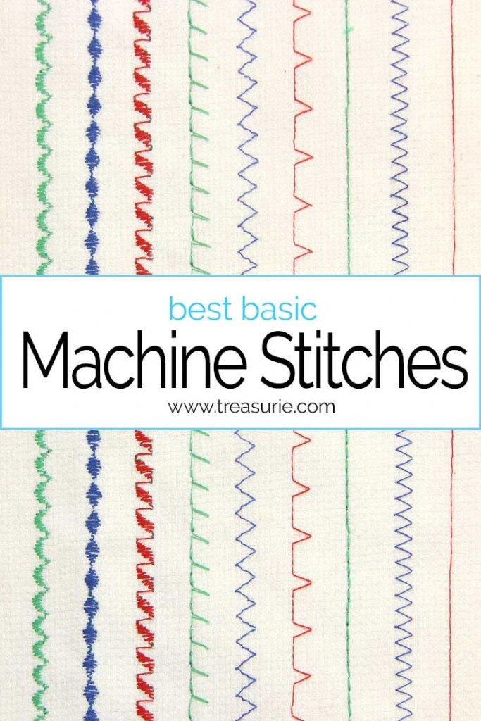 sewing machine stitches, basic machine stitches