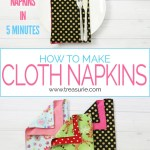 How To Make Napkins 2 Ways For Beginners Treasurie