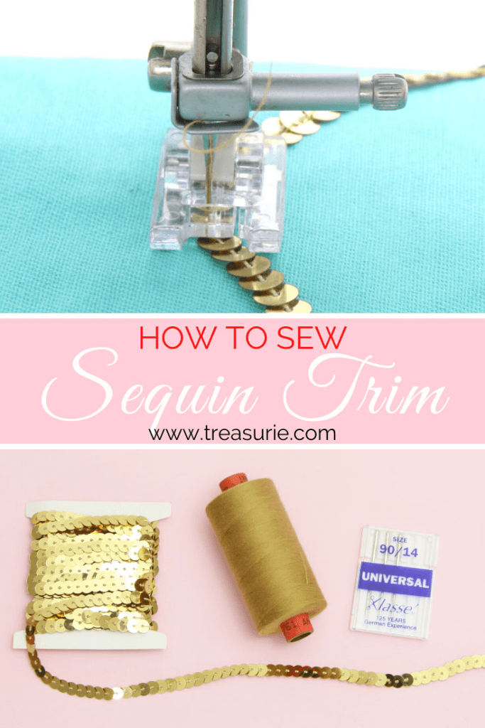 how to sew sequin trim