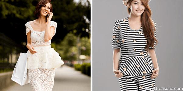 Types of Skirts - Peplum
