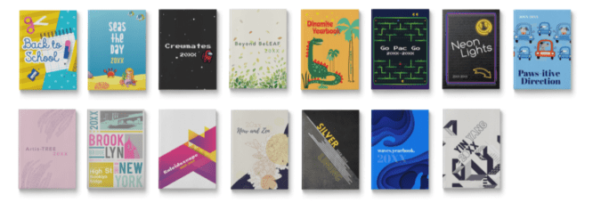 Collection of 15 yearbook themes