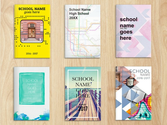 ready-to-use high school yearbook themes