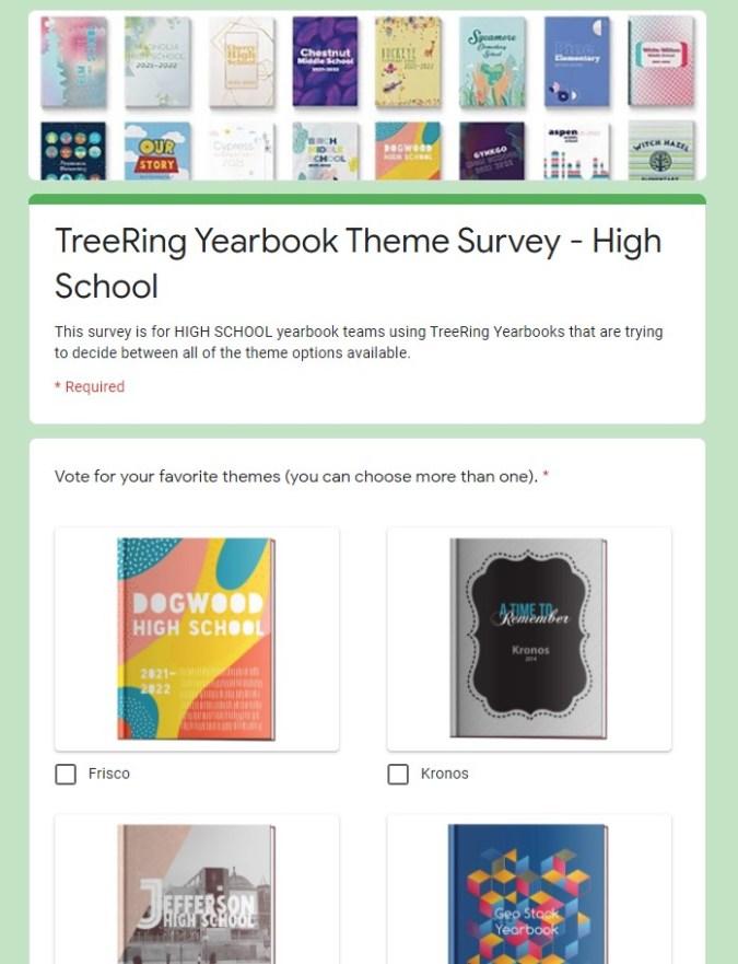 Yearbook Theme Survey