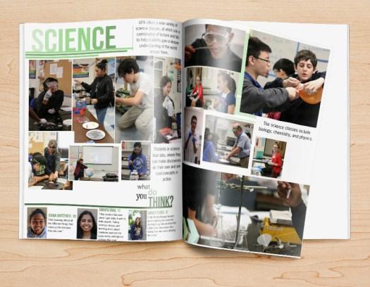 Akademische Seiten-Jahrbuch-Design-Idee