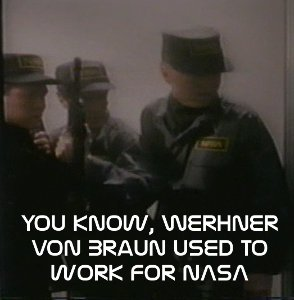 NASA soldiers