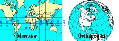 Mercator != Orthographic