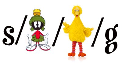 s/martian/big bird/g