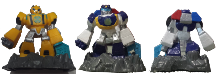 Rescue Bots Beam Box Bumblebee and Chase Comparison