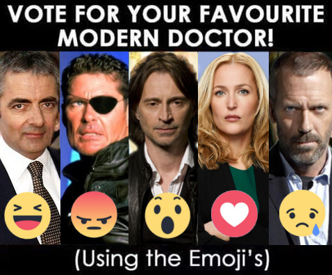 Hugh Laurie, Rowan Atkinson, David Hasselhoff, Gillian Anderson, Robert Carlyle as Doctor Who