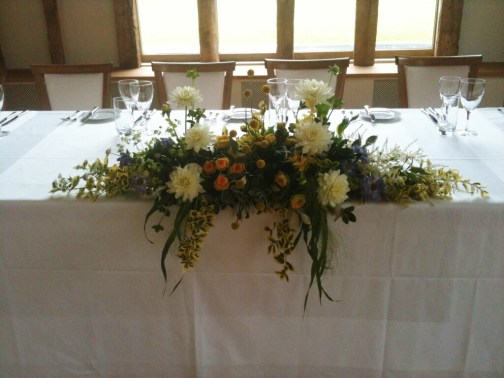 June 2015 - Yellow Wedding Arrangements (1)