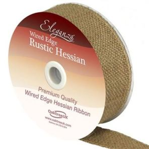 HESSIAN RIBBON NATURAL - 32MM
