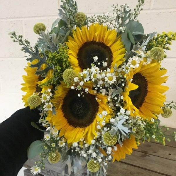 Bright Sunflower Wedding at The Hangar