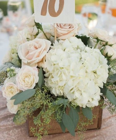 Hydrangea Centrepiece - Spring Flowers
