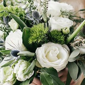 Organic Hand-Tie Wedding Bouquet