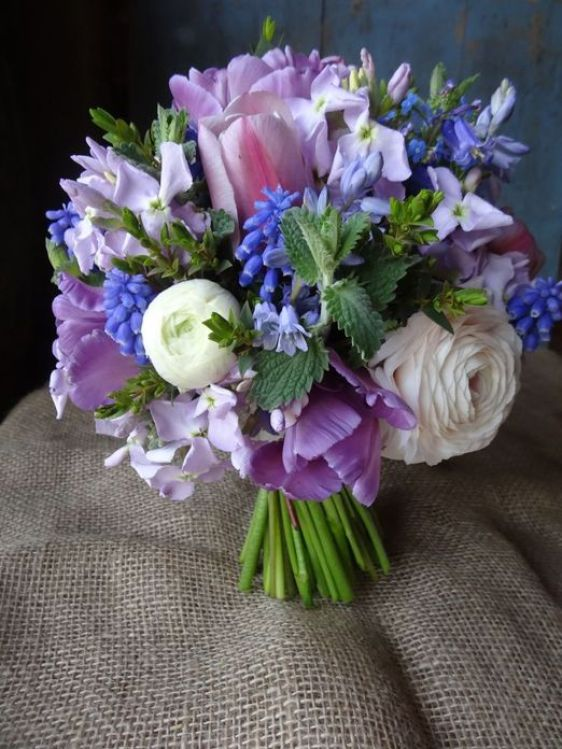 Hyacinths Wedding Bouquet