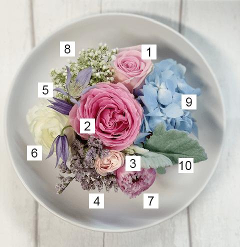 Pink/Blue Textured Bowl