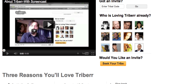 New Triberr Homepage Revealed