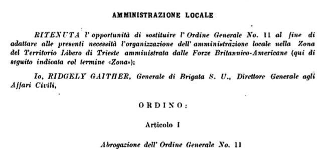 LA RESA DEI CONTI PER LE ISTITUZIONI ITALIANE NEL TERRITORIO LIBERO DI TRIESTE